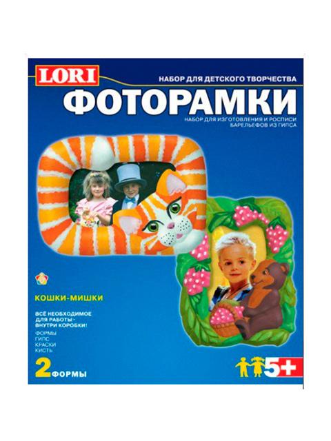 """Набор для лепки """"Фоторамки-Кошки-Мишки"""" (формы, гипс, краски, кисть)"""