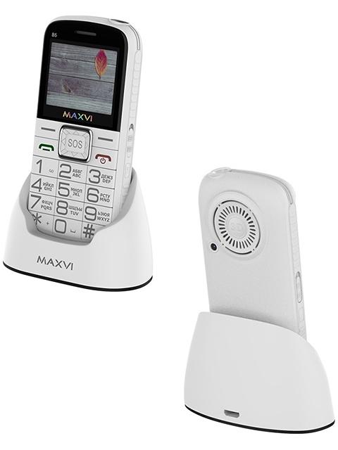 Мобильный телефон Maxvi В5 White с док-станцией