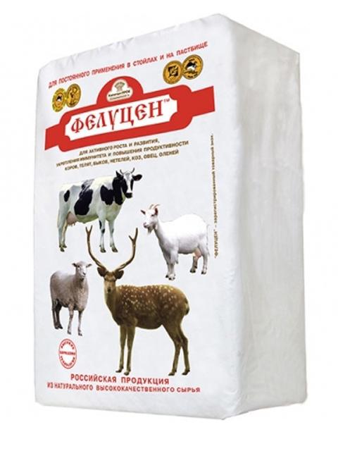 Фелуцен солевой лизунец универсальный с минералами для КРС, коз, овец (3кг)