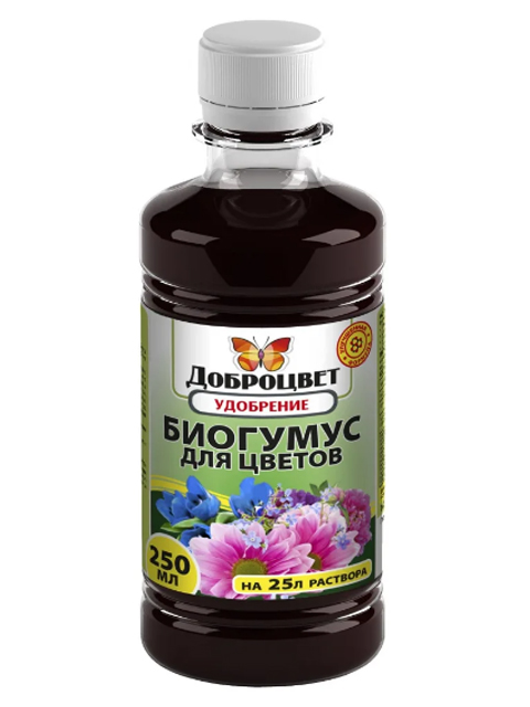 ДОБРОЦВЕТ Биогумус для цветов 250мл