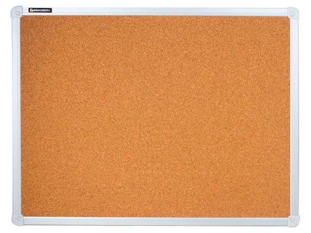 Доска пробковая BRAUBERG для объявлений, 45х60 см, алюминиевая рамка, гарантия 10 лет, Россия, 231711