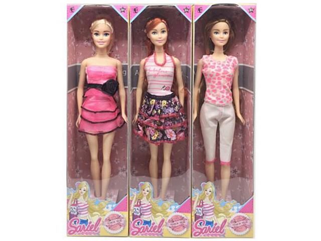 Кукла 29см., в платье, в картонной коробке