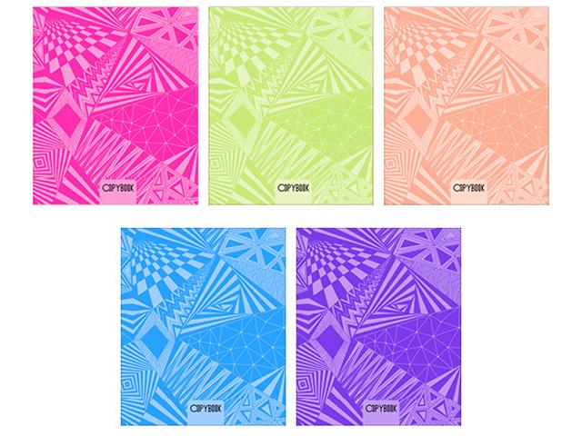 """Тетрадь А5 96 листов клетка Unnika """"Геометрические фантазии"""" обложка мелованный картон, выборочный лак, на гребне"""