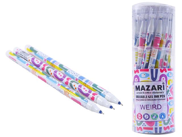 "Ручка ""пиши-стирай"" гелевая Mazari ""WEIRD"" 0,5 мм, синяя"