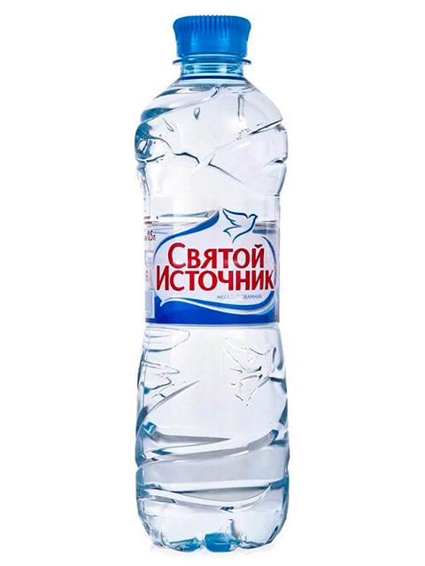 Вода питьевая Святой источник 0,5 л, негазированная пл/бут.