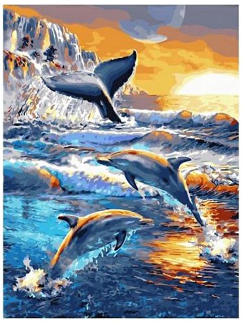 "Картина по номерам PaintBoy ""Морские обитатели"" 40х50см"