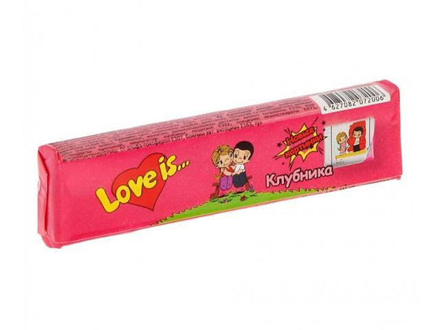 """Конфеты жевательные """"Love is"""" 25 г, клубника"""