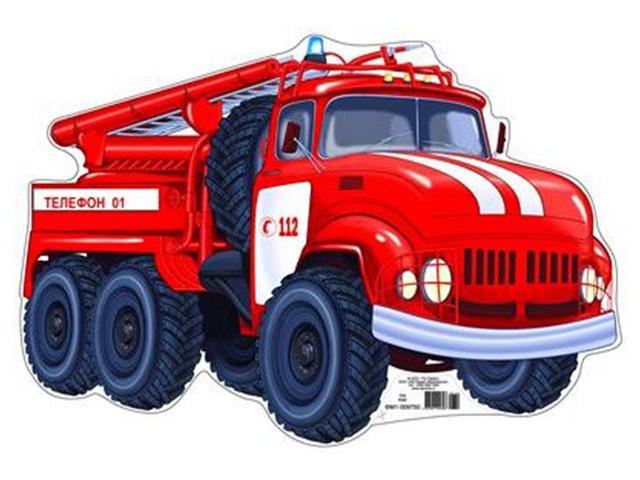"Плакат вырубной А4 ""Пожарная машина"""