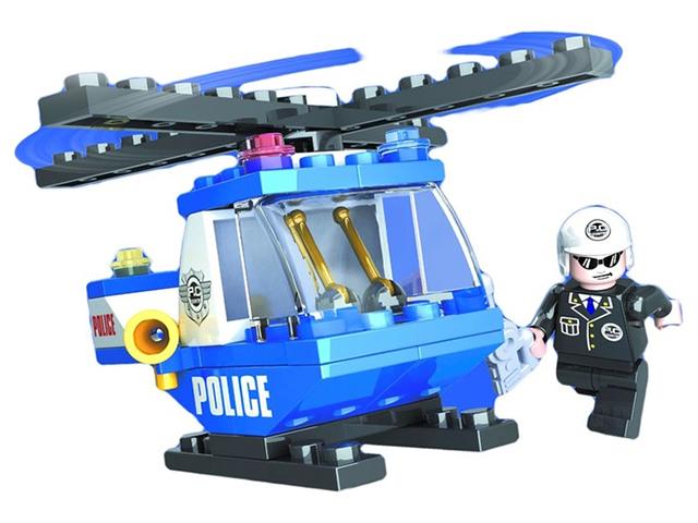 """Конструктор AUSINI """"Патруль. Полицейский вертолет."""" 47 деталей"""