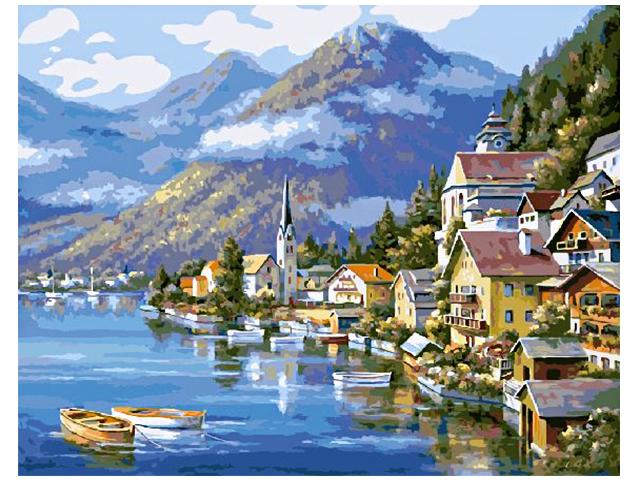 """Картина по номерам """"Планета картин. Австрия"""" 40*50см"""