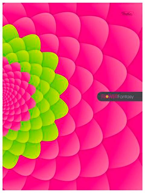 "Бизнес-блокнот А5 96 листов Хатбер ""FlowerFantasy"" обложка 7БЦ, 4-х цветн. листы"