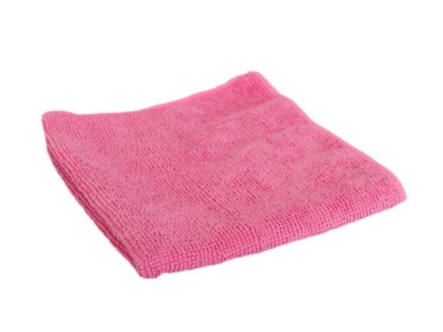 Салфетка из микрофибры 29х29см., розовая, 1шт. в упак.