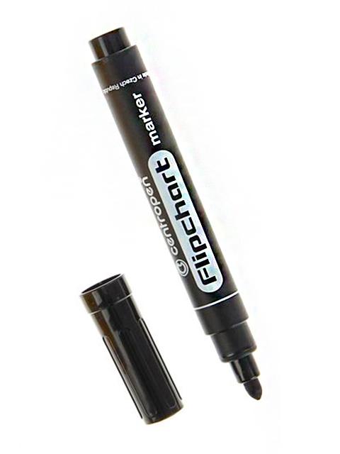 """Маркер Centropen """"Flipchart"""" 2,5 мм, пулевидный наконечник, черный"""