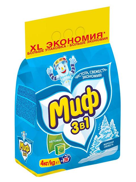 МИФ СМС Порошок-автомат Морозная свежесть 4 кг