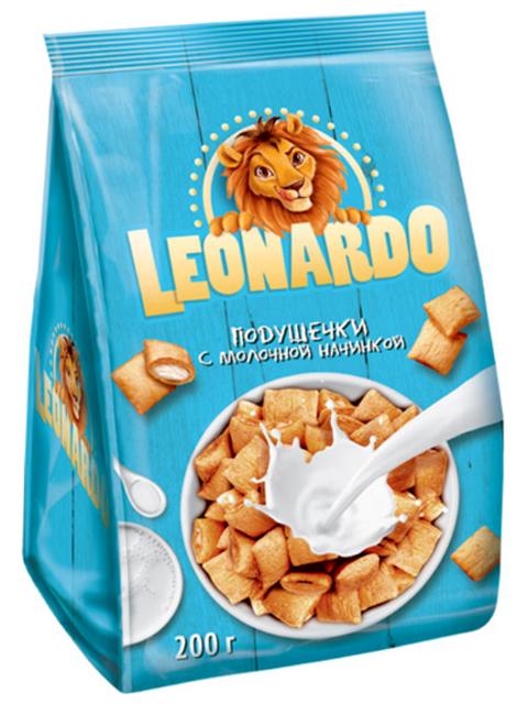 Подушечки с молочной начинкой LEONARDO, 200г