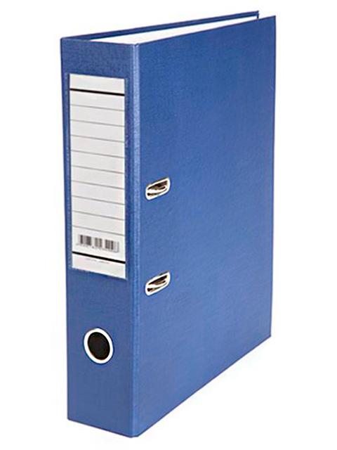 Регистратор А4 Хатбер 70 мм бумвинил, синий