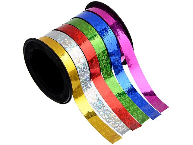 Лента подарочная, Голография разноцветная, 0,7смх18м