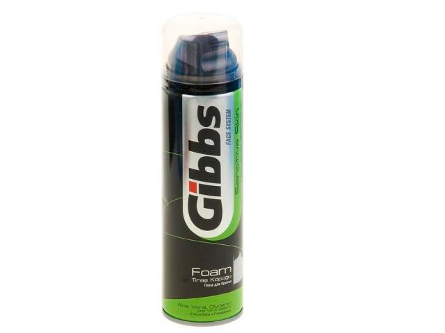 Пена для бритья Gibbs Sensitive 200мл/194г