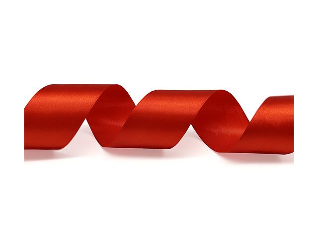 Лента атласная, декоративная 5,0смх22,86м №025 алый (цена за 1м)