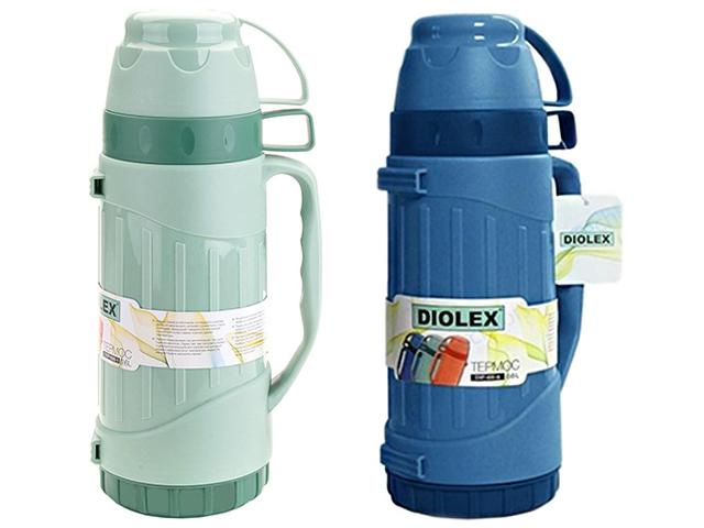 """Термос """"DIOLEX"""" 600мл., пластик., со стеклянной колбой"""