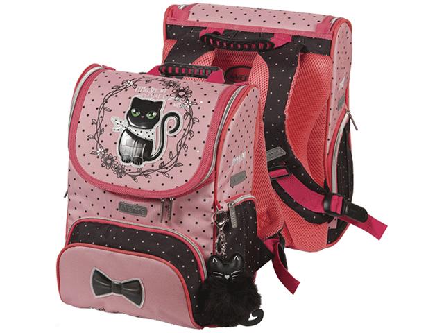 """Ранец школьный deVENTE """"Mini. Fashion Kitty"""" 35х26х20 см, 1 отделение, жесткая ортопедическая спинка, с брелком"""