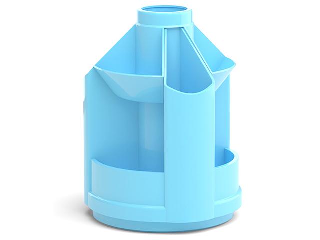 "Подставка настольная Erich Krause ""Mini Desk, Pastel"" вращающаяся, голубой"