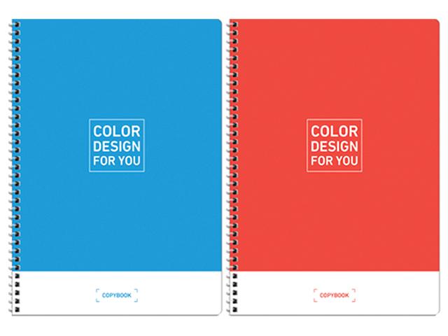 """Тетрадь А4 80 листов клетка ArTSpace """"Моноколор. Color design"""" на гребне"""