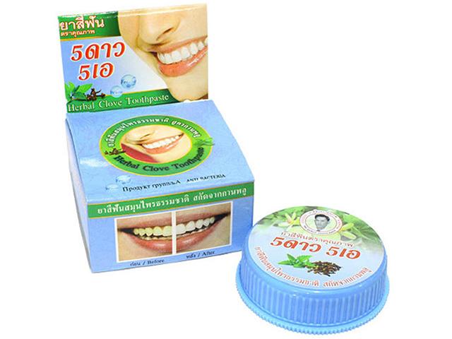 Зубная паста 5 Star травяная антибактериальная 25 гр