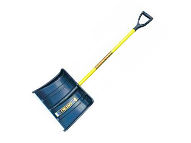 """Лопата снеговая """"Ледо"""" (спринт) 420х370 пластмассовая, с мет. черенком и V-образной ручкой"""