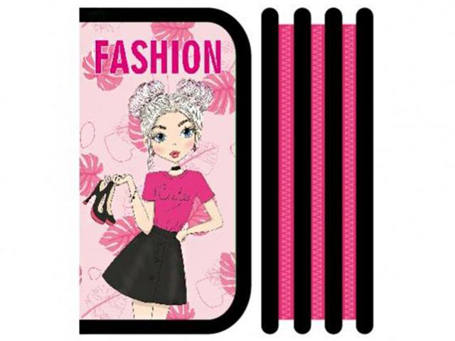 """Пенал 3 отделения Пчёлка """"Pink fashion"""" 190х105 мм"""