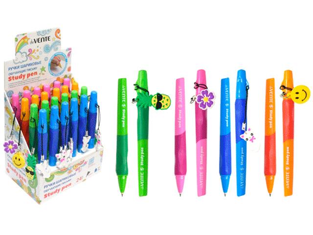 """Ручка шариковая """"deVENTE. Study Pen"""" 0,7мм, для правшей, с подвеской, синяя"""