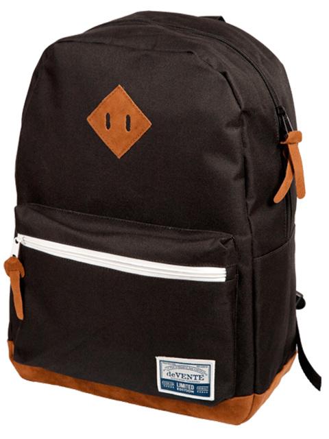 """Рюкзак подростковый deVENTE """"Deerskin. Navy Black"""" 40х30х14 см, 1 отделение, текстиль, черный"""