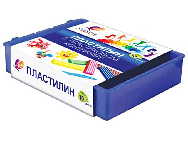 """Пластилин Луч """"Классика"""" 10 цветов, в пластиковом контейнере"""