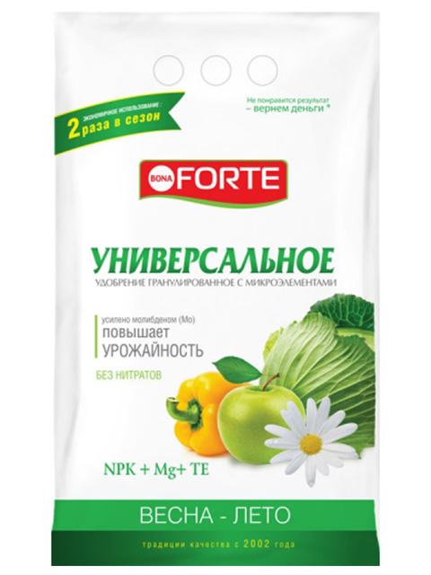 Bona Forte Универсальное весна-лето с микроэлементами, 1 кг, комплексное, гранулированное