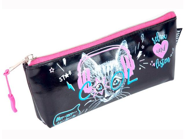 "Пенал-косметичка deVENTE ""Music Kitty"" 21x8x3,5 см, кожзам"