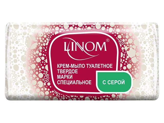 """Мыло-крем туалетное LINOM """"Твердое марки специальное с серой"""" 140г"""