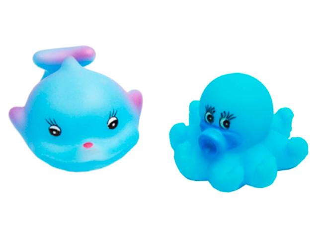 "Набор для купания ""Морское приключение-7"" 2 шт, игрушки-пищалки"