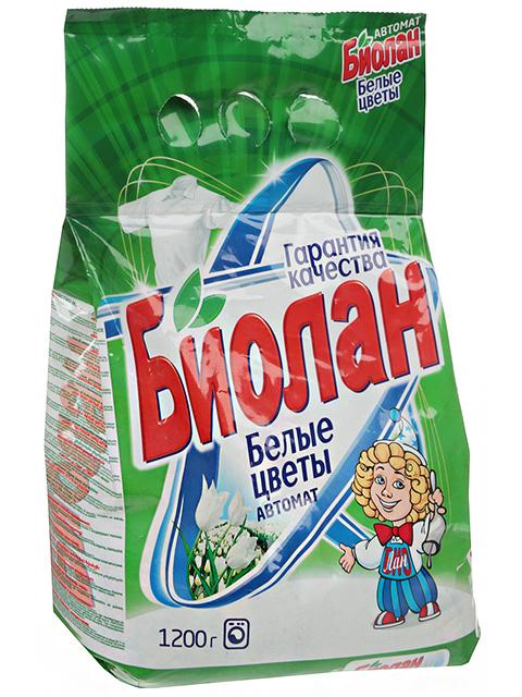 БИОЛАН СМС Порошок-автомат Белые Цветы 1,2кг