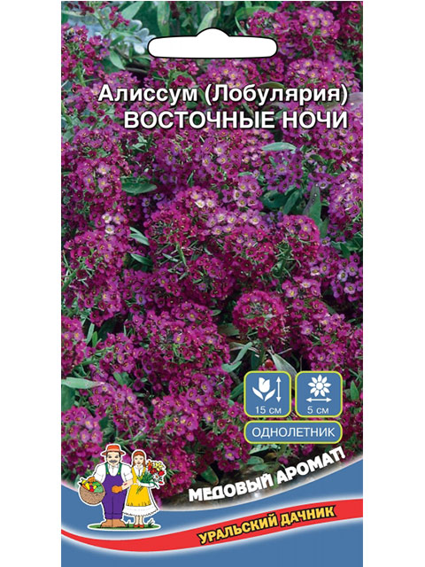 Алиссум (Лобулярия) Восточные ночи, ц/п, 0,1 г. Уральский дачник
