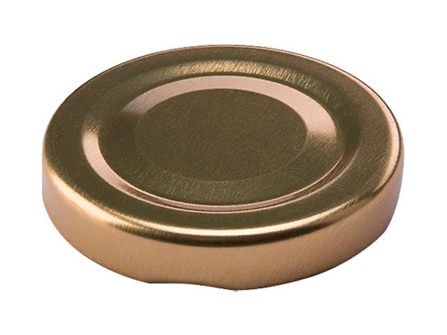 Крышка винтовая d-43мм, металлическая золотая