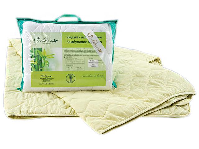 """Одеяло """"Бамбук"""" стеганое микрофибра 1,5 (140*205) спальный (300г/м2)"""