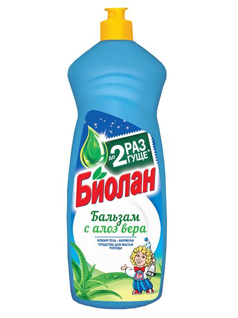 Средство для мытья посуды БИОЛАН Бальзам Алое Вера 900 мл.