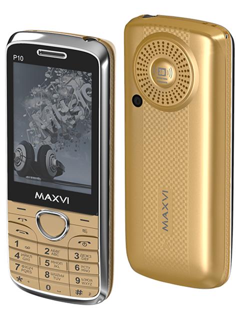 Мобильный телефон Maxvi Р10 Gold