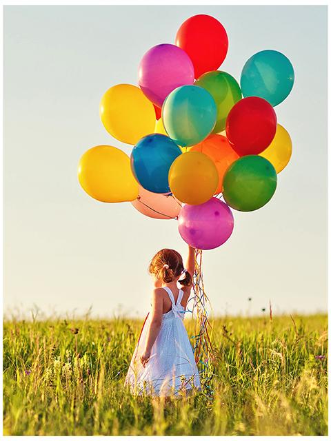 """Набор для детского творчества """"Холст с красками. Маленькая девочка с шариками"""" 17х22 см"""
