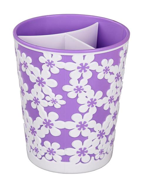 """Подставка под столовые приборы """"Дольче Вита"""" фиолетово-белый"""