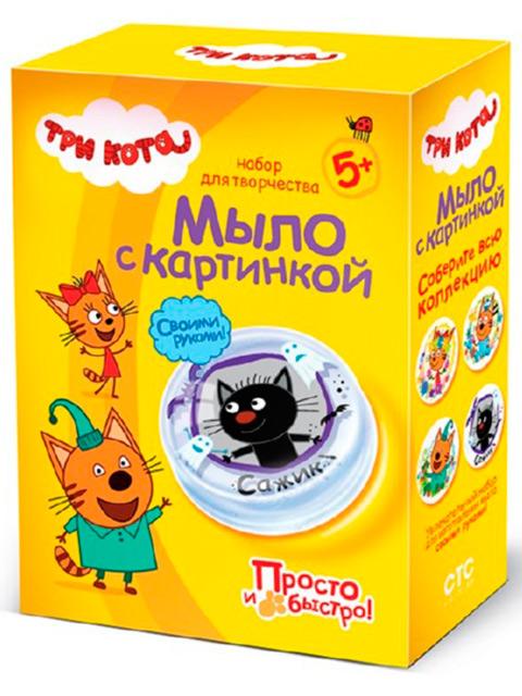 """Набор для детского творчества """"Мыло с картинкой. Три кота: Сажик"""""""