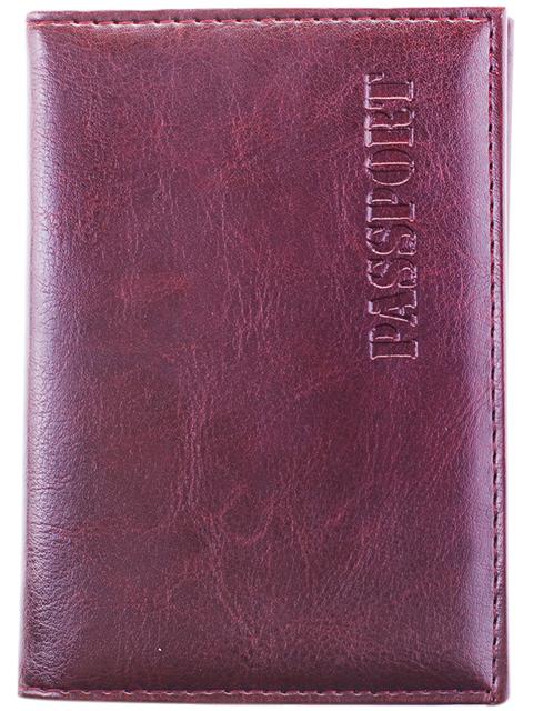 Обложка для паспорта Office Space к/зам + изолон, с подкладом, коричневый