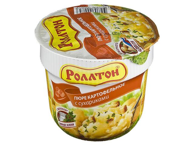 """Пюре картофельное """"Роллтон"""" 40 г с сухариками"""