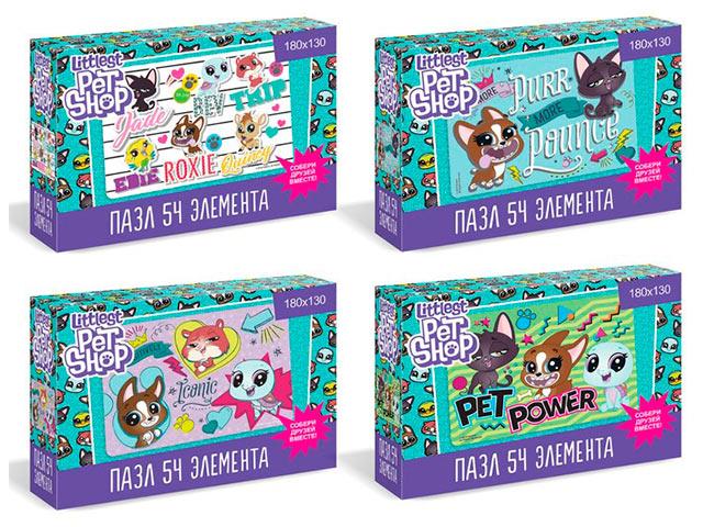 """Пазлы 54 элемента Оригами """"Littlest Pet shop. Вместе мы сила!"""" в ассортименте"""