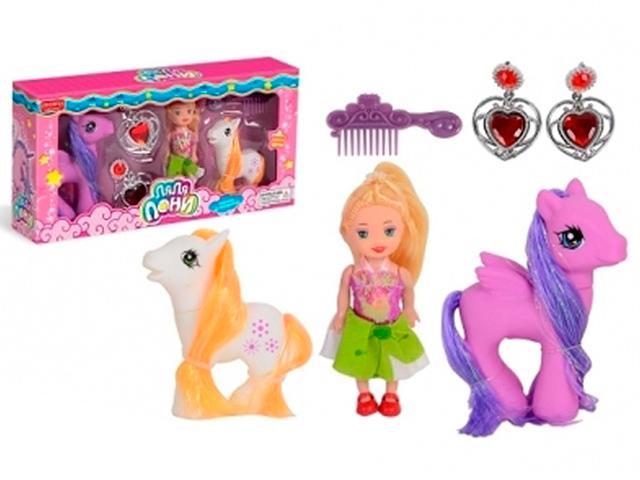 """Игровой набор """"Ляля-Пони-3"""" с аксессуарами, в коробке"""